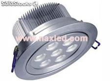 9x1W led down light, recessed ceiling light, silvery aluminum