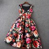 A-line, Princess Round collar under-Knee-length Sleeveless bowknot Homecoming,