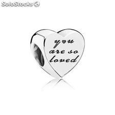 Abalorio Pandora Mujer Charm Plata You are so loved