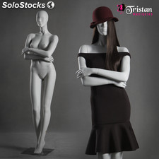 Abstract female mannequin white color ice