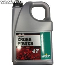 Aceite Motorex Cross Power 4T 10W50, 4 litros