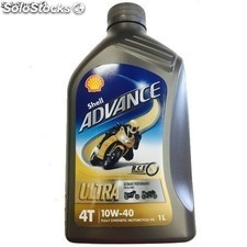 Aceite Shell Advance Ultra 10W40 4T, 1 Litro