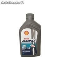 aceite shell advance ultra 15w50 4t, 1 l