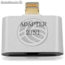 Adaptador Apple lightning a Micro USB y Apple 30pin (OC12)