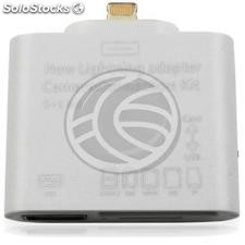 Adaptador Apple lightning a USB SD MS MMC M2 TF y tarjetas de memoria (OC11)
