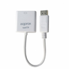 Adaptador approx display port a hdmi - resolucion hasta 1200p - blanco