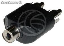 Adaptador Audio Estéreo (Jack-3.5mm-h / 2 x rca-m) (AY36)