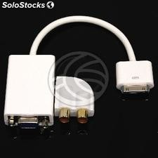 Adaptador audio y VGA para Apple iPad iPod iPhone 30pin (OC03)