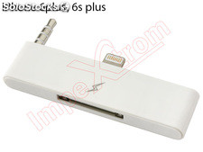 Adaptador branco 8-30 pinos com jack de 3,5 mm para Apple iPhone 6 Plus / 6S