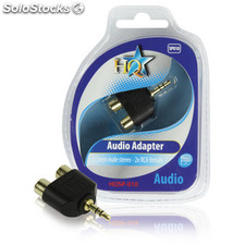 Adaptador De Audio Estéreo 3,5 Mm Macho - 2x Rca Hembra
