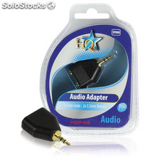 Adaptador De Audio Macho 3,5 Mm - Hembra 2x3,5 Mm