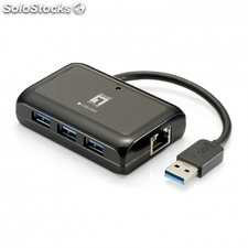 Adaptador de red usb level one usb-0502 - gigabit - funcion wake-on-lan - hub
