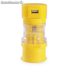 Adaptador enchufes amarillo tribox