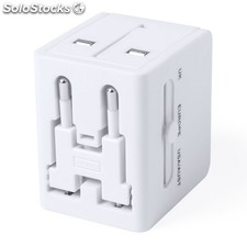 Adaptador enchufes blanco celsor