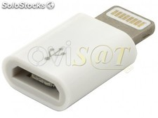 Adaptador MD820 blanco Micro Usb A Lightning para iPhone / iPad 4, iPod Touch 5