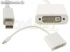Adaptador Mini Display Port (Thunderbolt) a DVI-I para Macbook, Macbook Pro,