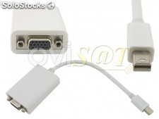 Adaptador Mini Display Port (Thunderbolt) a VGA para Apple Macbook, Macbook Pro,