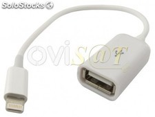 Adaptador OTG lightning a USB para Apple Ipad 4/Retina/mini, Iphone 5/5S/5C/6/6