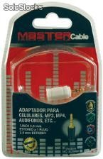 Adaptador para celulares, MP3, MP4, audifonos, etc.