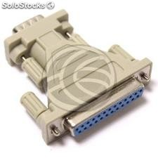 Adaptador serie DB9-macho a DB25-hembra (CS31-0002)