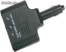 Adaptador Triple con fusible para 12 Volts