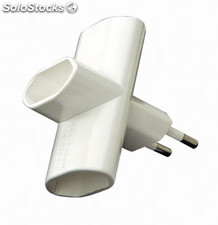Adaptador triple duolec Color Blanco 10A 250V