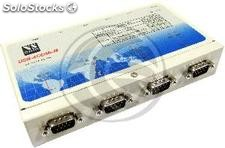Adaptador usb a rs-422/485 vscom (4-Port DINRail) (UB75)