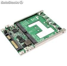 "Adapter 2.5 ""sata to 2-Port mSATA ssd (MS14)"