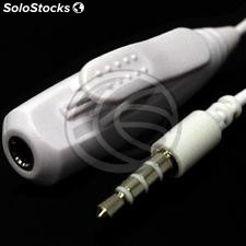 Adapter microphone and headphone button mobile phone white (KL32)