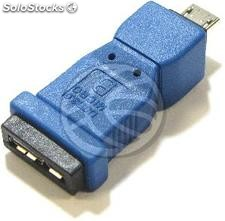 Adapter usb 3.0 to usb 2.0 (Micro usb ab MicroUSB a Female to Male) (UY69)
