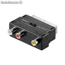 adattatore audio video spina scart a rca 50122