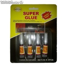 Adhesivo instantaneo super glue blister 4x3 grm