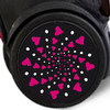 Adhesivos Roller Wheel Sticker Cuore