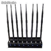 Adjustable 8 Antennas High Power gps/ WiFi/ 4g(lte+Wimax) Jammer