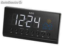 AEG Projection Clock Radio with Weather indication MRC 4141 P black