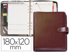 "Agenda anillas belius mediana 7"" 185x125 mm tk-7 lisa burdeos"