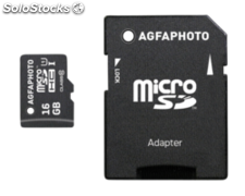 AgfaPhoto Mobile High Speed 16GB MicroSDHC Clase 10 + adaptador