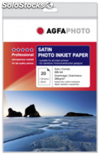 AgfaPhoto Professional Photo Paper 260 g Satin A 4 20 hojas