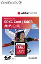 AgfaPhoto sdxc tarjeta 64GB Class 10 / High Speed / mlc