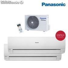 Aire acondicionado bomba de calor Panasonic Inverter 2x1 kit 2re15-pke 12+7