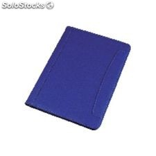 Alassio portabloc messina simil piel a4 330x240x25mm azul 30082