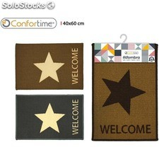 Alfombra 40X60CM star welcome confortime - 3 diseños surtidos - confortime -