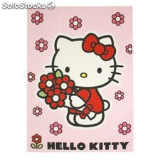 Alfombra hello kitty flores - home