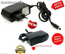 Alimentatore telecamere strisce led video 12 v 1a 12w con indicatore led