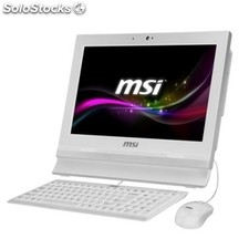 "All in one msi AP1622 Intel Celeron 1037U 4GB 500GB FreeDos 15.6"" táctil blanco"
