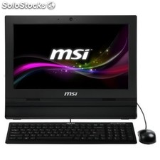 "All in one msi AP1622 Intel Celeron C1037U 4GB 500GB FreeDos 15.6"" táctil negro"