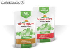 Almo nature cat wet anti hairball 70 Gr. Vacuno
