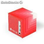 Altavoces 1.0 ngs roller cube red bluetooth