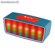 ✅ altavoces 1.0 ngs roller glow blue bluetooth