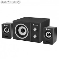 Altavoces 2.1 ngs sugar - 20W - subwoofer madera - control volumen y graves -